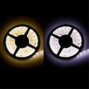 preiswerte LED Lichtstreifen-5m Flexible LED-Leuchtstreifen 300 LEDs Warmes Weiß / Weiß Schneidbar / Wasserfest / Verbindbar 12 V / 3528 SMD / IP65 / Selbstklebend