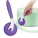 hesapli Fırın Araçları ve Gereçleri-Kek pizza rulo bıçak kesici fondan kek buzlanma kesici tekerlek mutfak kek aracı