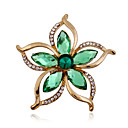 cheap Brooches-Women's Brooches - Rhinestone, Imitation Diamond Flower Luxury, Fashion Brooch Green For Wedding / Party / Special Occasion