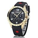 ieftine Butoni-CURREN Bărbați Ceas Militar  Ceas de Mână Aviation Watch Quartz Cauciuc Negru / Albastru Ceas Casual Analog Lux Aristo - Alb Negru Albastru