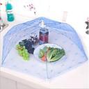hesapli Saklama ve Organizasyon-Mutfak parti masa gıda saklama kapağı katlanır şemsiye dantel metal çerçeve rastgele renk örgü