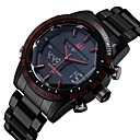 cheap Rings-ASJ Men's Wrist Watch Japanese Quartz 30 m Water Resistant / Water Proof Alarm Calendar / date / day Stainless Steel Band Analog-Digital Luxury Black - Black Red Blue Two Years Battery Life