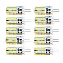abordables Luces LED de Doble Pin-brelong 10 pcs g4 regulable 2.5w 24led smd2835 maíz blanco claro / blanco cálido / ac12v / dc12v / ac220v