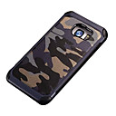 baratos Capinhas para Galaxy Série S-Capinha Para Samsung Galaxy Samsung Galaxy S7 Edge Antichoque Estampada Capa traseira Côr Camuflagem PC para S7 Active S7 plus S7 edge S7
