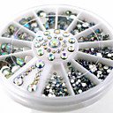 cheap Makeup & Nail Care-1wheel white shiny ab rhinestone 3d nail art decorations