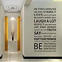 preiswerte Wanddekoration-Dekorative Wand Sticker - Worte & Zitate Wandaufkleber Worte & Zitate Wohnzimmer / Schlafzimmer / Esszimmer / Abziehbar