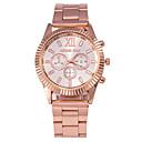 preiswerte Damenuhren-Herrn / Damen / Unisex Modeuhr Armbanduhren für den Alltag Legierung Band Silber / Rotgold