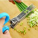 voordelige Decoratiestickers-Keukengereedschap Roestvast staal Creative Kitchen Gadget Scissor voor Vegetable