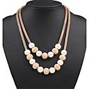 preiswerte Halsketten-Damen Perle Statement Ketten / Layered Ketten / Perlenkette - Perle Erklärung, Europäisch, Modisch Gold Modische Halsketten Schmuck Für Party, Besondere Anlässe, Geburtstag