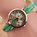 preiswerte Damenuhren-Damen Armbanduhr Armbanduhren für den Alltag Leder Band Charme / Modisch Schwarz / Weiß / Blau