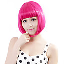 cheap Makeup & Nail Care-Synthetic Wig Straight Bob Haircut Fashionable Design Cosplay Pink Women's Lace Front Capless Party Wig Halloween Wig Short Synthetic Hair