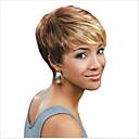 hesapli Karabinler-Sentetik Peruklar Düz Sarışın Pixie Cut / Bantlı Sentetik Saç 6 inç Işıltılı / Balyajlı Saç Sarışın / Çoklu-renk Peruk Kadın's Şort Bonesiz Karışık Renk