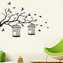 preiswerte Damenuhren-Dekorative Wand Sticker - Tier Wandaufkleber Landschaft / Tiere Wohnzimmer / Schlafzimmer / Badezimmer / Waschbar / Abziehbar / Repositionierbar