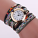 cheap Earrings-Women's Quartz Bracelet Watch Casual Watch Leather Band Flower Fashion Black White Blue Orange Brown Pink