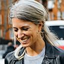 hesapli Küpeler-Kadın's Vidali Küpeler Halka Küpeler - İfade, Avrupa, Moda Gümüş / Altın Uyumluluk Parti Günlük