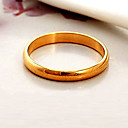 cheap Rings-Women's Chunky Couple Rings / Band Ring / Statement Ring - Gold Plated Fashion 6 / 7 / 8 Black / Silver / Golden For Wedding / Party / Daily