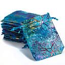 hesapli Konfeti-10 adet renkli İpli mercan çiçek şeker hediye çanta takı çantası 9x12 cm