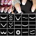 cheap Makeup & Nail Care-18 sheets set french manicure diy nail art tips guides stickers stencil strip