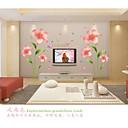 hesapli Dekorasyon Etiketleri-Romantizm Moda Çiçekler Duvar Etiketler Uçak Duvar Çıkartmaları Dekoratif Duvar Çıkartmaları, PVC Ev dekorasyonu Duvar Çıkartması Duvar