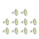 abordables LED à Double Broches-3W GU4(MR11) Spot LED MR11 12 diodes électroluminescentes SMD 5730 Blanc Chaud Blanc Froid 250lm 3500/6000K DC 12V