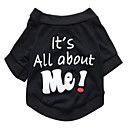 cheap Dog Clothing & Accessories-Cat Dog Shirt / T-Shirt Dog Clothes Letter & Number Black Cotton Costume For Pets Men's Women's Cute Fashion