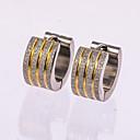 cheap Earrings-Men's Stud Earrings / Hoop Earrings - Rose Gold, Sterling Silver Silver For Wedding / Party / Daily