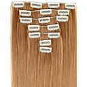 baratos Maquiagem & Produtos para Unhas-Extensões de cabelo humano Alta qualidade Liso Clássico Mulheres Diário
