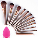 cheap Makeup & Nail Care-Professional Makeup Brushes Makeup Brush Set 12pcs Portable Travel Eco-friendly Professional Full Coverage Wood Makeup Brushes for Makeup Brush Set