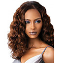 Buy Women Long Deep Wave Synthetic Hair Wig Dark Brown Heat Resistant Fiber Cheap Cosplay Party
