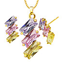 Buy Women's Jewelry Set Necklace/Earrings Crystal Vintage Cute Party Work Casual Fashion Wedding Daily Silver Plated Gold