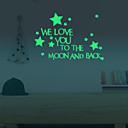 preiswerte Ohrringe-Landschaft Tiere Menschen Stillleben Romantik Mode Formen Fantasie Freizeit Cartoon Design Feiertage Retro Wand-Sticker Leuchtende Wand