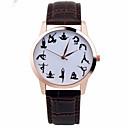 hesapli Küpeler-Kadın's Bilek Saati Kronograf Deri Bant Işıltılı / Moda Siyah / Beyaz / Kahverengi