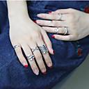 preiswerte Ringe-Damen Ring-Set - Europäisch, Modisch 7 Silber Für Party Alltag Normal