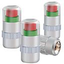 hesapli Fırın Araçları ve Gereçleri-Dört yüklü metal kap lastik basıncı izleme lastik basınç valfi kapağı