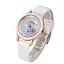 hesapli Kadın Saatleri-Kadın's Moda Saat Quartz Gündelik Saatler PU Bant Siyah Beyaz Kırmızı