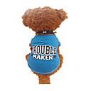 hesapli Köpek Giyim ve Aksesuarları-Köpek Tişört Köpek Giyimi Harf & Sayı Siyah ve Mavi Pamuk Kostüm Evcil hayvanlar için