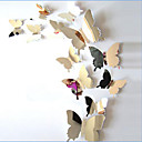 رخيصةأون أقراط-حيوانات ملصقات الحائط ملصقات الحائط على المرآة لواصق حائط مزخرفة, الفينيل تصميم ديكور المنزل جدار مائي جدار