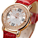 cheap Women's Watches-Women's Imitation Diamond PU Band Vintage / Fashion Black / White / Red / One Year
