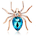 cheap Brooches-Women's Brooches - Crystal Ladies, Personalized, Fashion Brooch Jewelry Dark Blue / Purple / Light Blue For Party / Daily / Casual