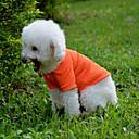 Недорогие Одежда для кошек-Собака Футболка Одежда для собак Однотонный Желтый Красный Зеленый Синий Розовый Хлопок Костюм Для домашних животных Муж. Жен. На каждый