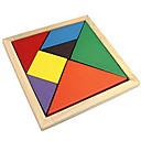 hesapli Bulmaca Oyuncaklar-Tangram Yapboz Ahşap Yapbozlar Renkli Ahşap Klasik Klasik & Zamansız Genç Erkek Genç Kız Oyuncaklar Hediye