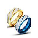 hesapli HDMI Kablolar-Erkek Band Yüzük - Titanyum Çelik Eşsiz Tasarım, Moda 7 / 8 / 9 / 10 / 11 Altın / Mavi Uyumluluk Günlük