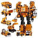 رخيصةأون ألعاب السيارات-5 في 1 سوبر أطفال السيارات عمل الروبوتات بطل اللعب التحول الروبوت اللعب البلاستيكية للفتيان