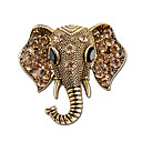 cheap Brooches-Fashion Jewelry Bohemian Elephant Crystal Brooches Women's Fashion