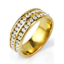 cheap Earrings-Men's Band Ring - Punk, Rock 6 / 7 / 8 / 9 / 10 Golden For Christmas Gifts Daily Casual