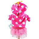 preiswerte Bekleidung & Accessoires für Hunde-Katze Hund Kapuzenshirts Kleider Hundekleidung Punkt Rose Blau Rosa Kord Kostüm Für Haustiere Damen Niedlich Modisch