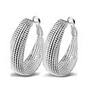 cheap Brooches-Women's Hoop Earrings - Sterling Silver Statement Ladies Sexy Fashion Jewelry Silver For Wedding Party Daily Casual Masquerade Engagement Party