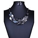 baratos Lentes para Celular-Mulheres Conjunto de jóias - Europeu, Fashion, Euramerican Incluir Colar / Brincos Roxo / Verde / Azul Para Casamento Festa Diário / Colares