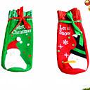 رخيصةأون مصابيح الضباب للسيارات-1 زوج عيد الميلاد النبيذ مجموعة زجاجة الغلاف أكياس الديكور المنزل الطرف القماش سانتا عيد الميلاد عيد الميلاد نافيداد