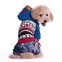 hesapli Köpek Giyim ve Aksesuarları-Kedi Köpek Paltolar Kapüşonlu Giyecekler Köpek Giyimi Zıt Renkli Mavi Pembe Pamuk Kostüm Evcil hayvanlar için Erkek Kadın's Kovboy